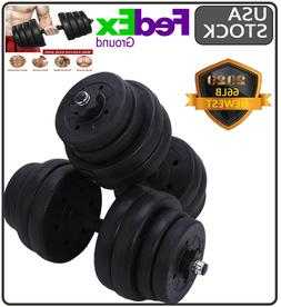total 66 lb weight dumbbell set adjustable