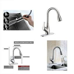 Purelux Tulip Kitchen Sink Faucet with Pull Down Sprayer Dec
