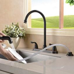 Builders Shoppe 1210TB Two Handle High Arc Kitchen Faucet wi