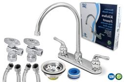 Two Handle Kitchen Faucet Installation Kit 1/2 Inch FIP X 3/