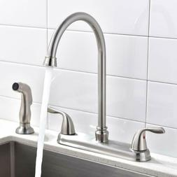 Two Handles Swivel Kitchen Faucet, High Arch Sink Mixer Taps