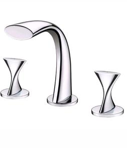 Ultra Faucets UF55510 Twist Collection Two-Handle Widespread