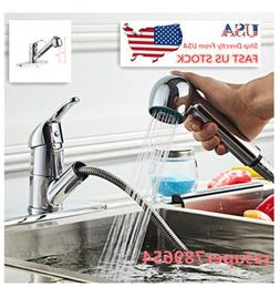 US 1 PCS All Copper Kitchen Pull Chromeplate Faucet Chrome F