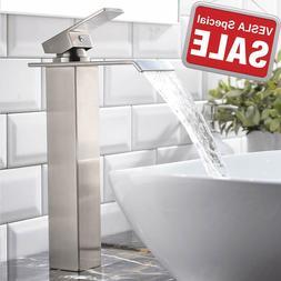 Vapsint HOME Single Handle Waterfall Brushed Nickel Bathroom