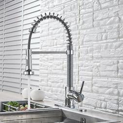 VIGO Chrome Single Handle Pull Out Sprayer Kitchen Sink Fauc