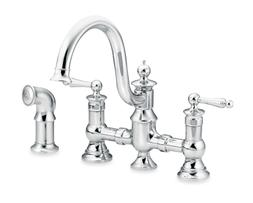 Moen Waterhill Chrome Kitchen Fixture Faucet With Side Spray